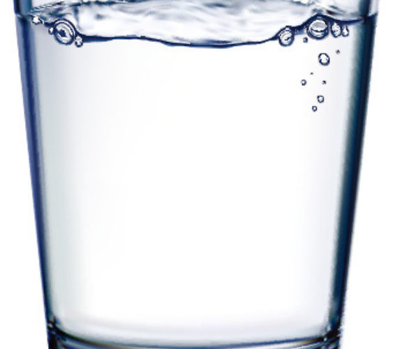 Glass cup and water vector 587234